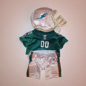 Build-A-Bear Miami Dolphins Football Uniform